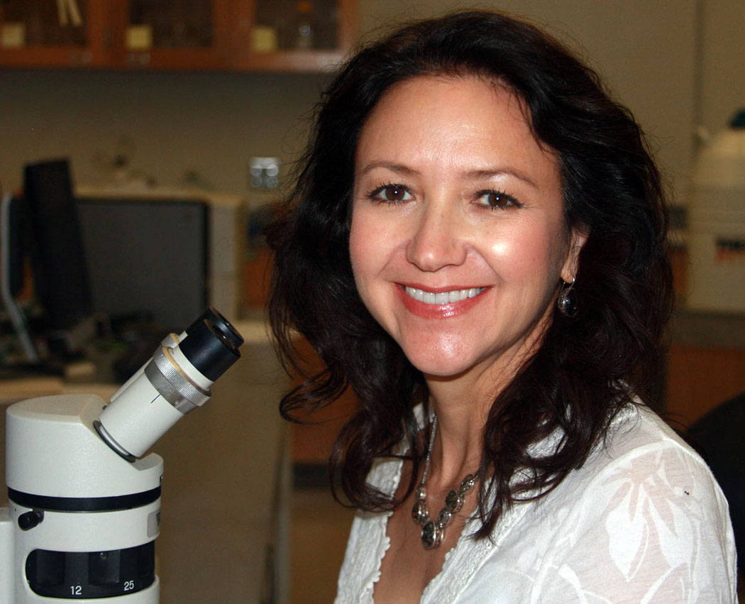 Dr. Padilla in her lab